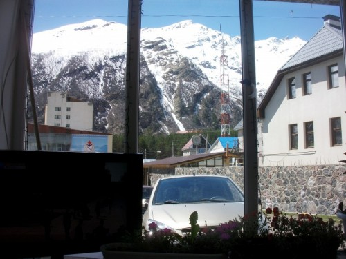 Вид на Чегет из нашего окна